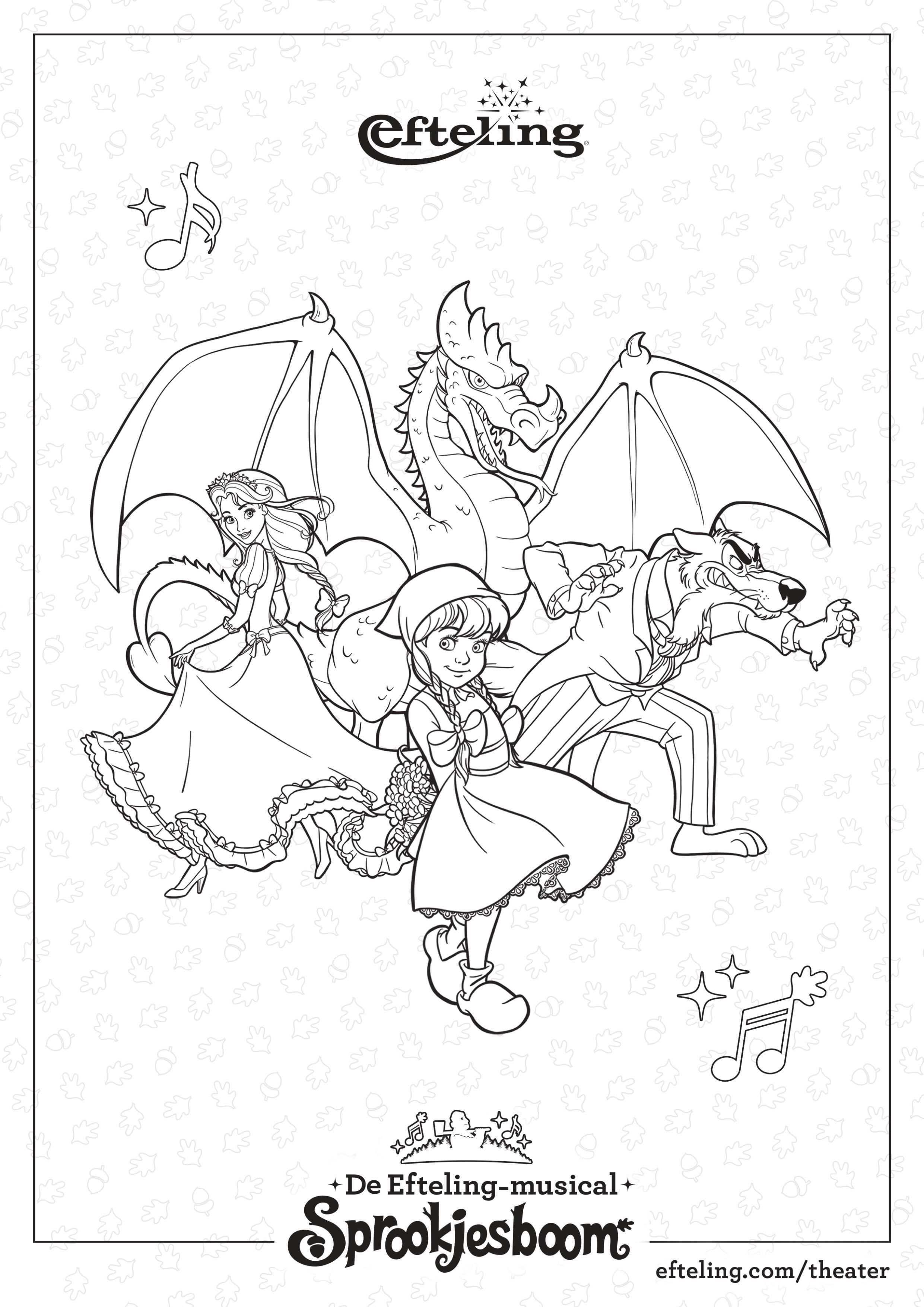 Efteling Kleurplaat Sprookjesboom De Musical Kleurplaten Sprookjesboom Sprookjes