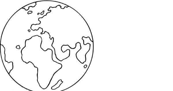 Kleurplaat Aarde Planeet Aarde Kleurplaten Planeten