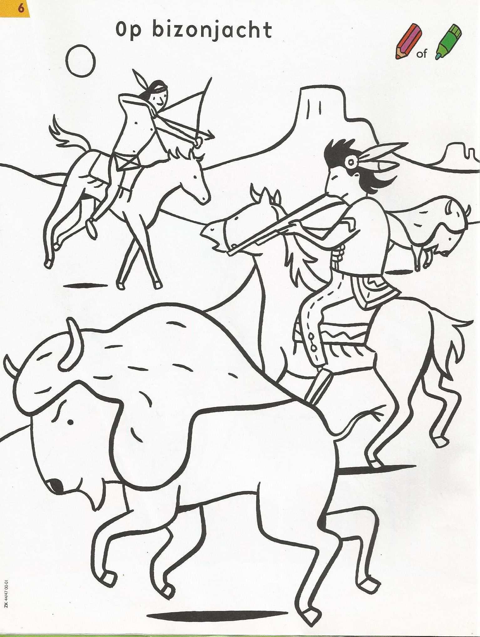 Kleurplaat Indiaan Indian Crafts Cartoon Humanoid Sketch