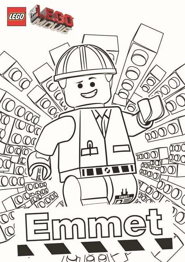 Kleurplaat Legofilm The Lego Movie Emmet Lego Kleurplaten Lego Verjaardag Kinderkleurplaten