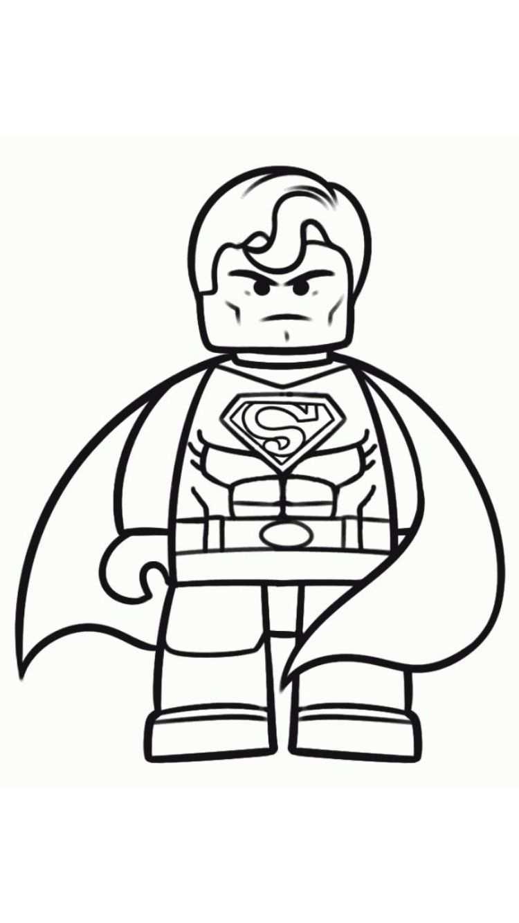 Pin Van Hilde Vandeweyer Op Thema Superhelden Lego Kleurplaten Superheld Knutsels Kinderkleurplaten