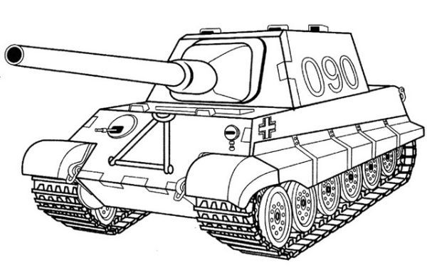 Legertank Kleurplaat Tank Kleurplaten Tank Kleurboek