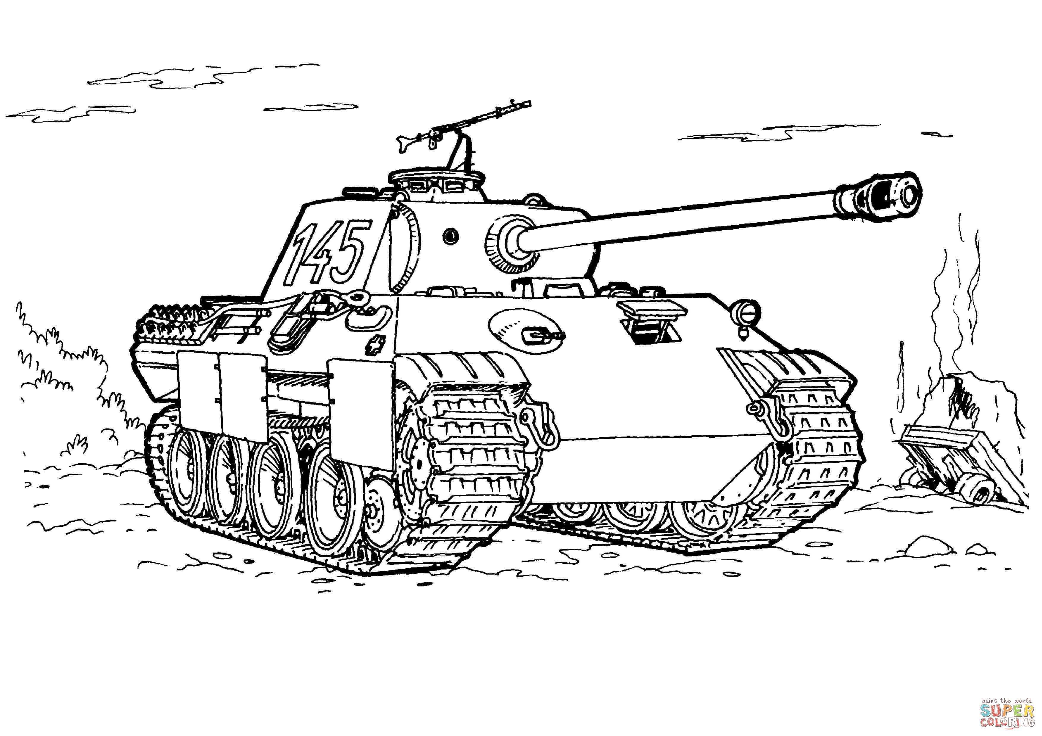 Panther Tank Coloring Page From Tanks Category Select From 27252 Printable Crafts Of Cartoons Nature Animals Tank Drawing Coloring Book Art Coloring Pages