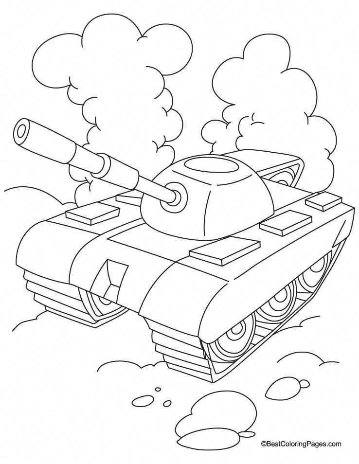 Tank With Cloud Coloring Page Download Free Tank With Cloud Coloring Page For Kids Best Coloring Pages Kravmag Knutselen Voor Jongens Kleurplaten Soldaten