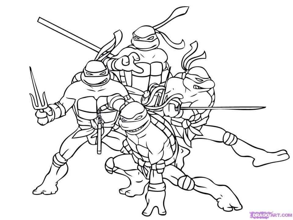 Teenage Mutant Ninja Turtles Print Off Color Page Kleurplaten Ninja Turtles Ninja