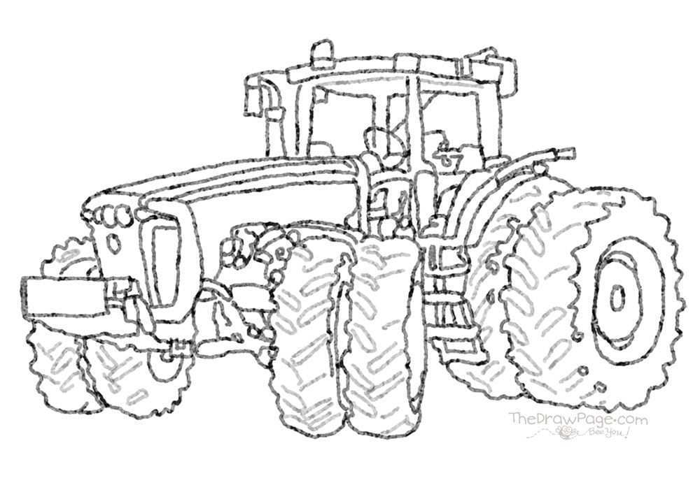 Coloring Sheet Color A Tractor Tractor Coloring Pages Truck Coloring Pages Coloring Pages
