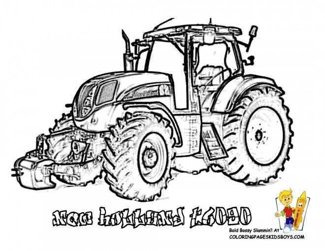 Coloriage Tracteur New Holland Tractor Coloring Pages Coloring Pages Coloring Pages To Print