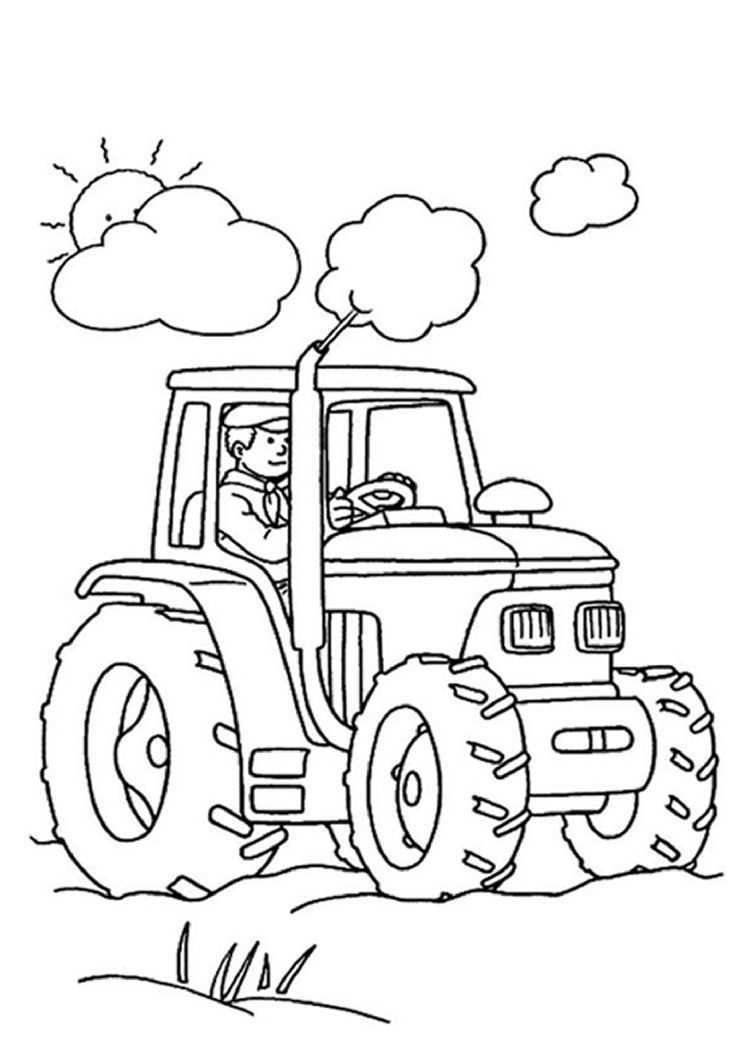 Tractor Coloring Pages For Kids These Tractor Coloring Pages Printable Will Surely Provide Tractor Coloring Pages Farm Coloring Pages Preschool Coloring Pages
