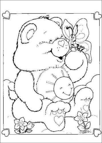 Kids N Fun Com 63 Coloring Pages Of Care Bears Bear Coloring Pages Butterfly Coloring Page Disney Coloring Pages