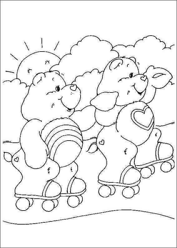 Kids N Fun Kleurplaat Troetelbeertjes Troetelbeertjes Kleurplaten Kleurboek Care Bear