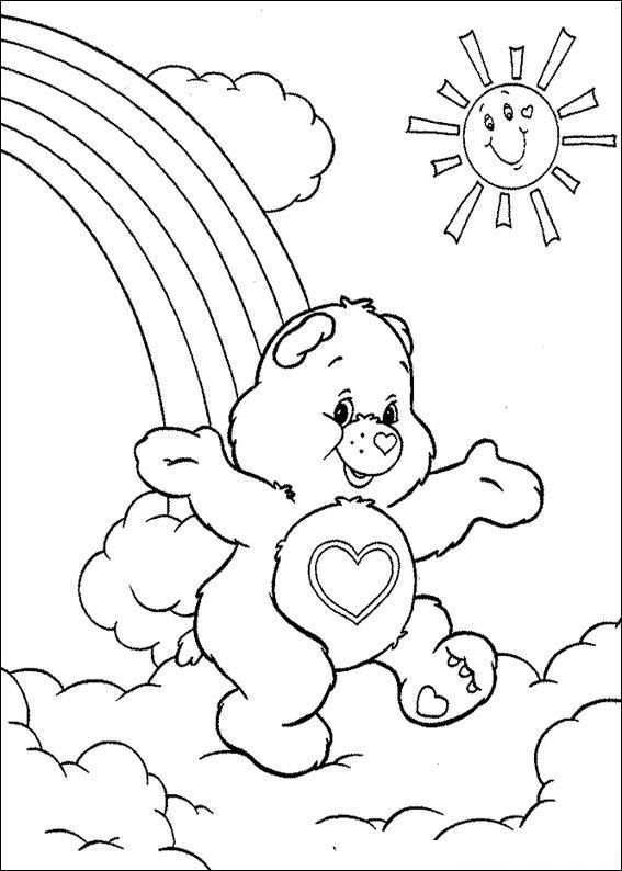 Kids N Fun Coloring Page Care Bears Care Bears Bear Coloring Pages Cartoon Coloring Pages Coloring Pictures
