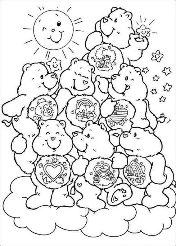 Kids N Fun Kleurplaat Troetelbeertjes Troetelbeertjes Kleurplaten Kleurboek Mandala Kleurplaten