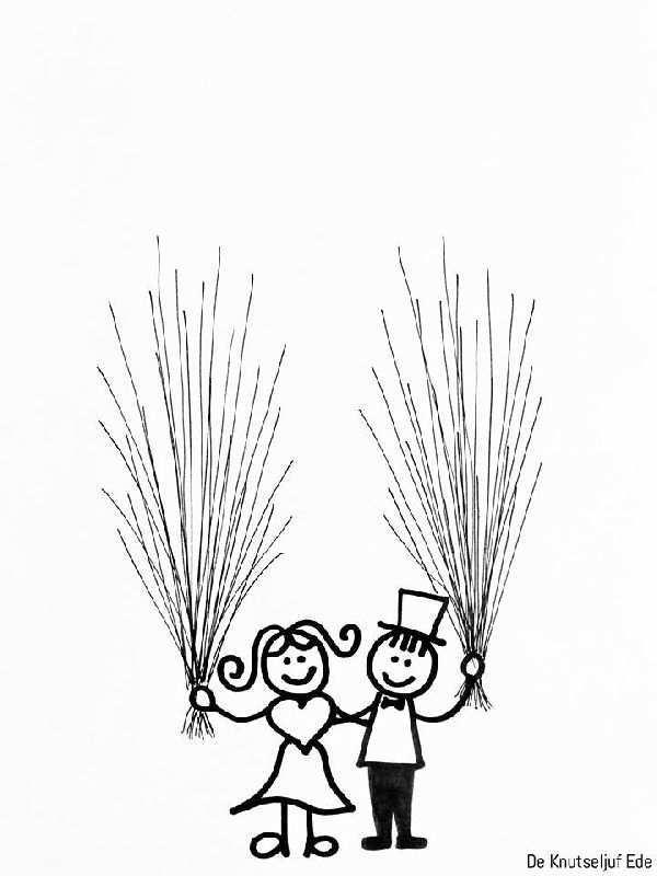 Ballonnen Huwelijk Trouwen Trouwfeest Kleurplaat Om Vingerafdrukjes Op Te Stempelen Knutselen Voor Huwelijk Knutselen Thema Trouwen Knutselen Bruiloft
