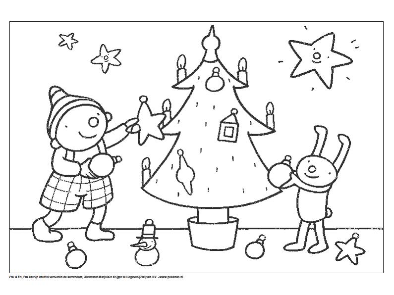 Uk En Puk Kerstmis Kleurplaat Kerst Peuter Kerst Kerstmis