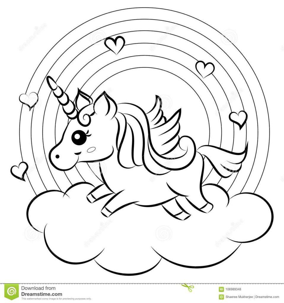 Kleurplaat Unicorn Regenboog Google Zoeken Kleurplaten Eenhoorn Leuke Tekening