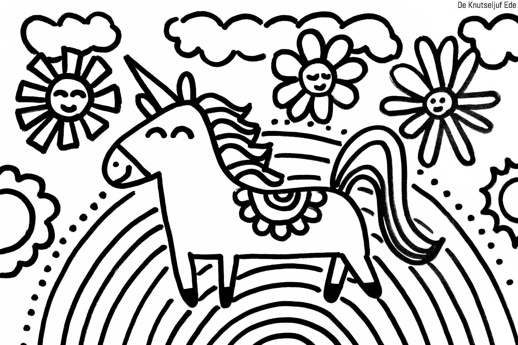 Kleurplaten Eenhoorns Unicorns Deknutseljufede Kleurplaat Kleurplaten Unicorns Eenhoorns De Knutseljuf Ede Eenhoorn Kleurplaten Regenboog Knutselen