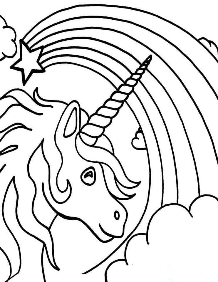 Dibujos Para Colorear Arcoiris 4 Dibujos De Unicornios Unicornio Colorear Unicornios Para Pintar