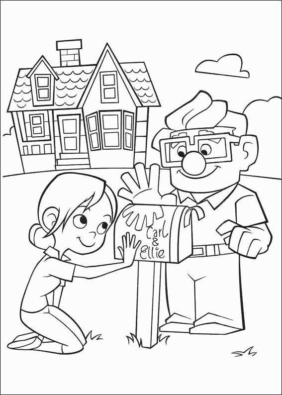 Up House Coloring Page Lovely Kleurplaten Up Coloring Pages In 2020 Cartoon Coloring Pages Disney Coloring Pages Coloring Pages