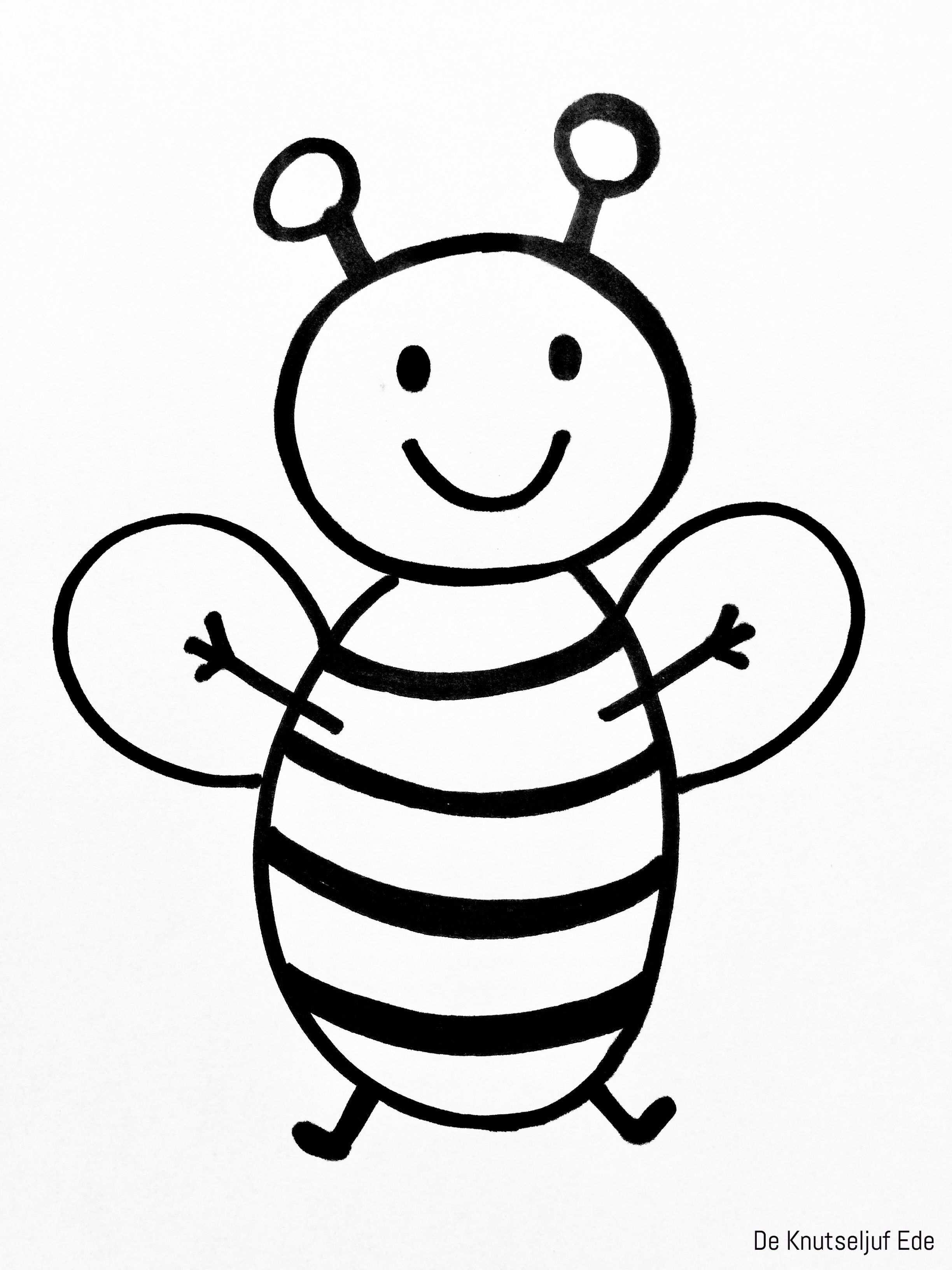 Kleurplaten Bijen Een Bijtje Voor Erbij Kleurplaten Knutselen Creatief Kleurplaat De Knutseljuf Ede Bee Diy For Kids Color