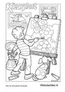 Kleurplaat Thema Kunst 4 Kleuteridee Nl Art Theme Coloring Pages Coloring Pages For Kids