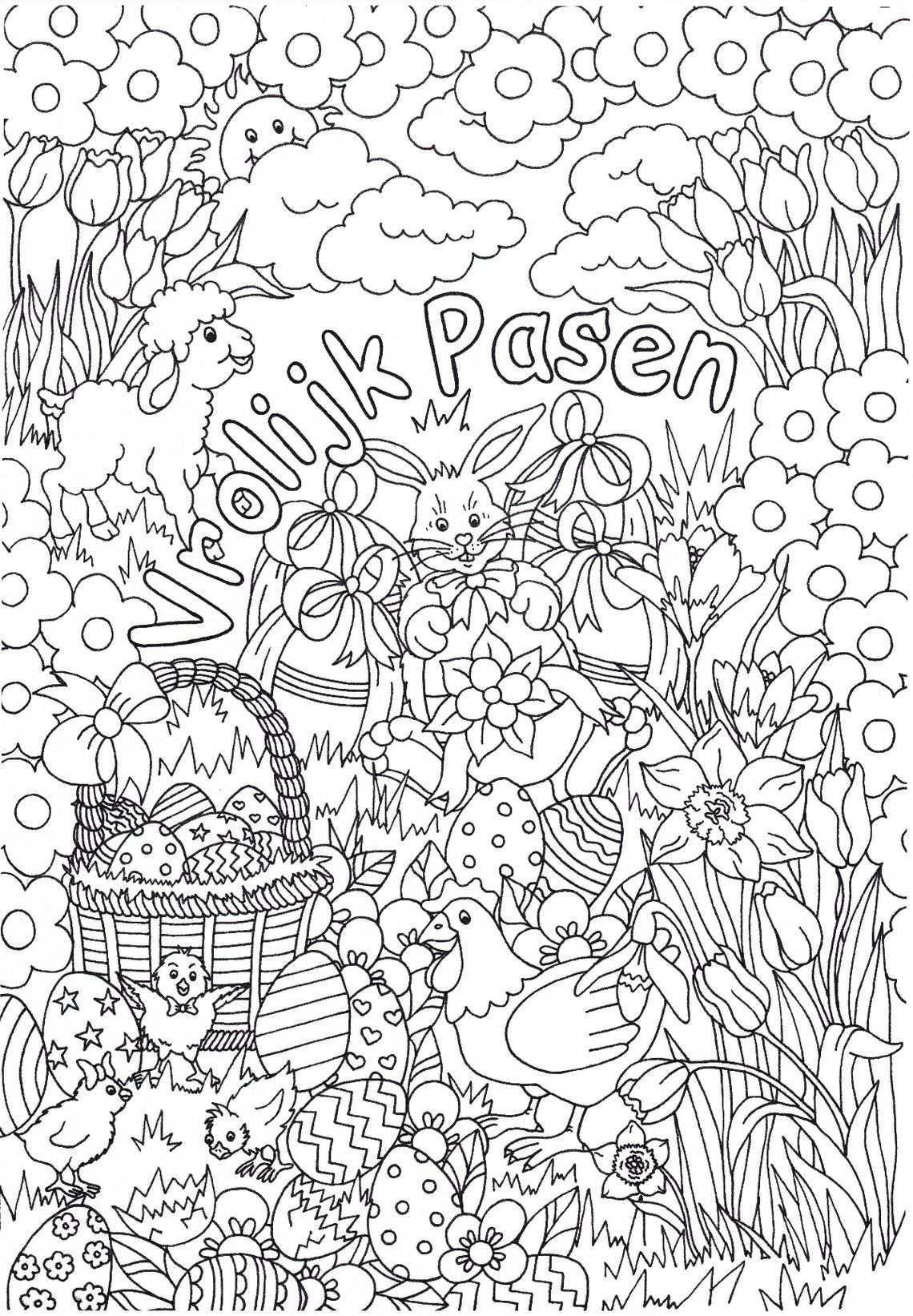 2 Prachtige Pasen Kleurplaten Van Suzanne Amels Kleurplaat Pasen Kinderen Kleurplaat Kinderen Pasen Kleurboek Zwart En Witte Achtergrond Pasen