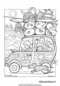 Incredible On Trip By Automobile 2 Coloring On The Precept Of Kindergarten On Trip By Autom Coloring Pages Free Coloring Pages Beach Coloring Pages