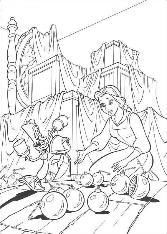 Kids N Fun Kleurplaat Belle En Het Beest Belle En Het Beest Kleurboek Kerstkleurplaten Kleurplaten Voor Kinderen