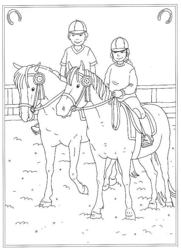 Kids N Fun 24 Kleurplaten Van Op De Manege Kleurplaten Kleurplaten Voor Kinderen Paardknutsels