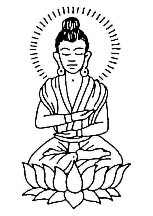 Kleurplaat Boeddha Gratis Kleurplaten Kleurplaten Boeddha