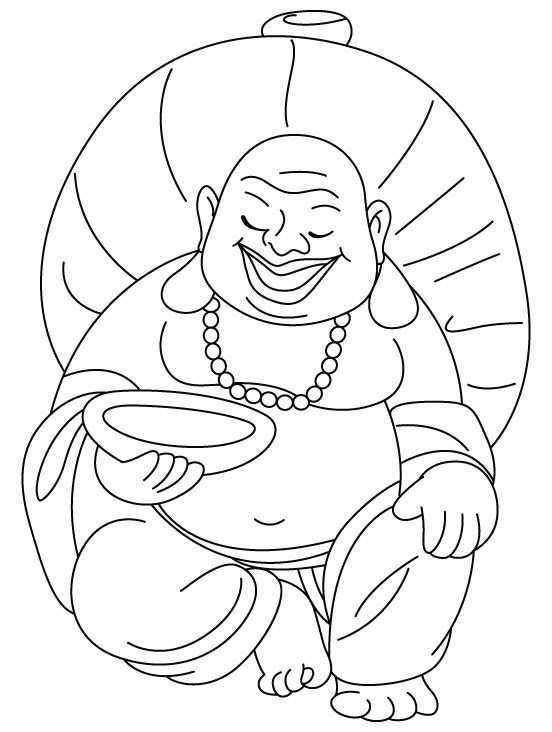 Laughing Buddha Coloring Pages Printable Sketch Coloring Page Buddha Art Laughing Buddha Buddha Art Painting