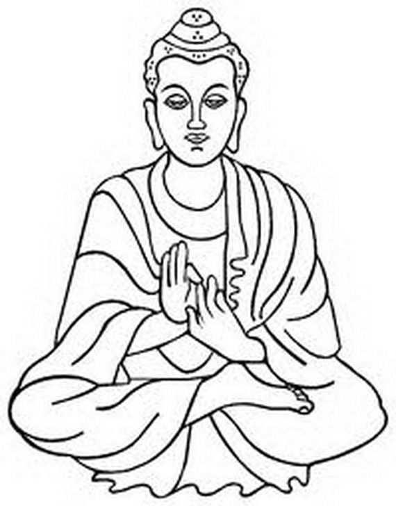 Buddha Buddha Drawing Buddha Art Sketches