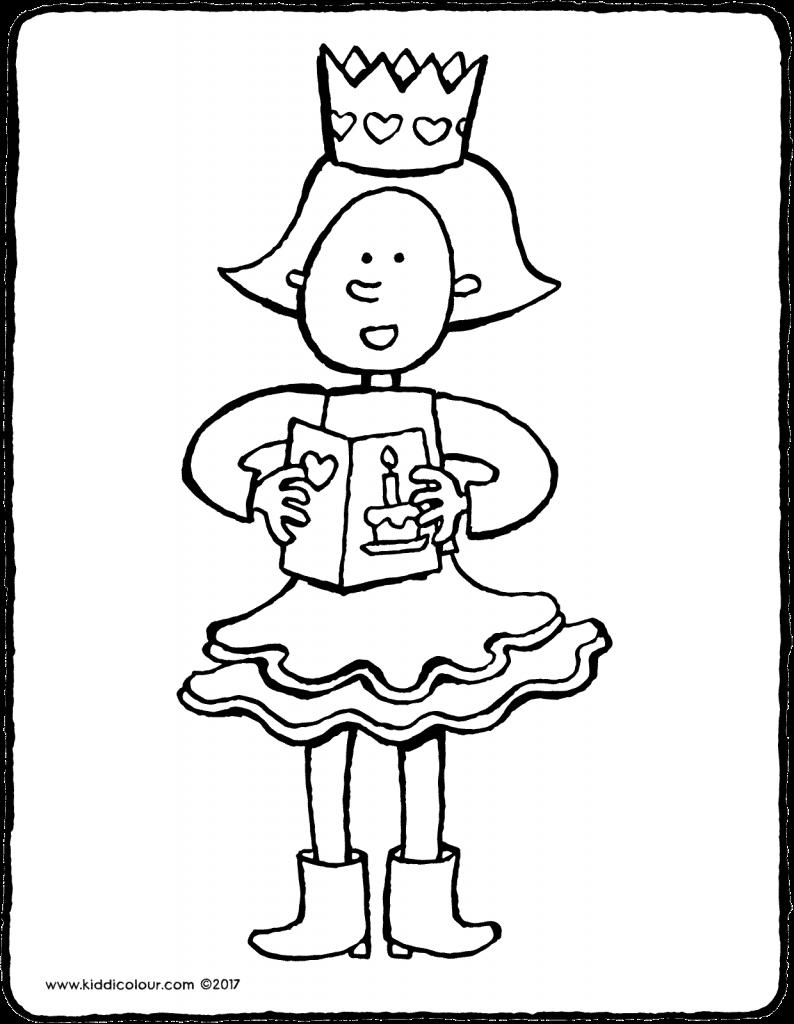 Emma Jarig Kleurplaat Kleurprent Tekening 01v Kleurplaten Kinderen Dansen Thema