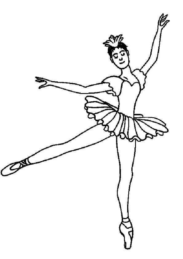 Kleurplaat Dansen 7617 Bailarinas Ballet