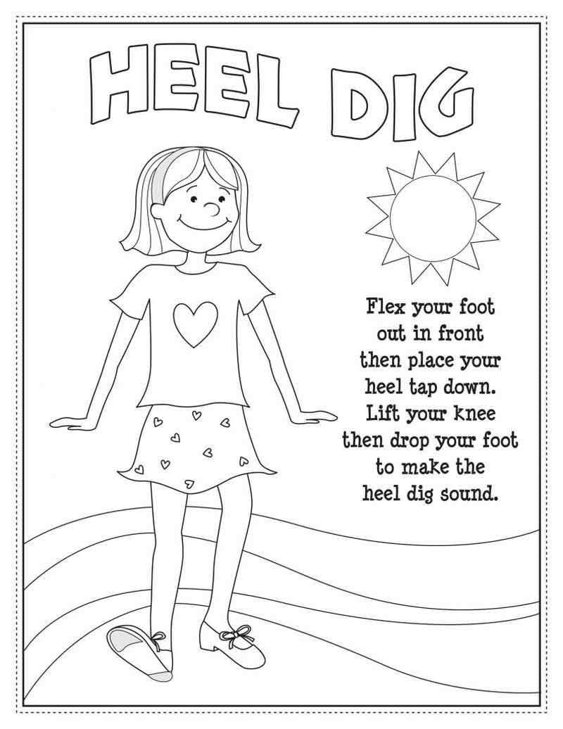 Tap Dance Coloring Pages In 2020 Dance Coloring Pages Toddler Dance Classes Teach Dance
