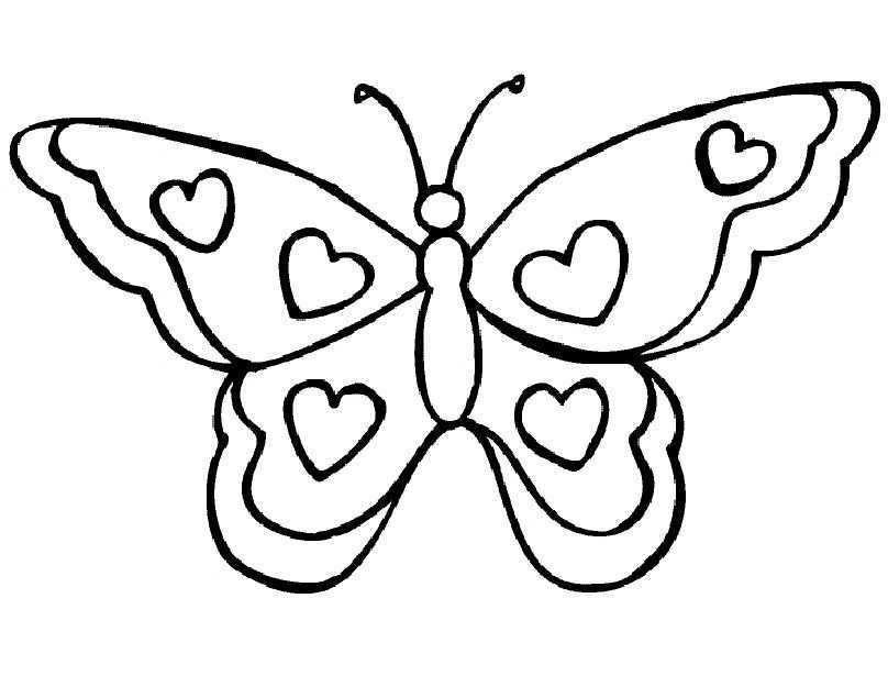 Een Mooie Vlinder Om In Te Kleuren Dieren Kleurplaten Vlinder Sjabloon Vlinder Tekening