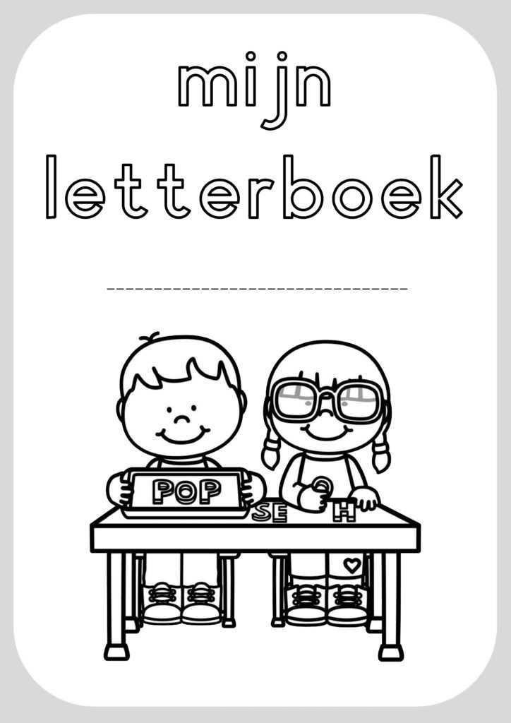 Letterboek Klas Van Juf Linda Leren Lezen Brief Letteren