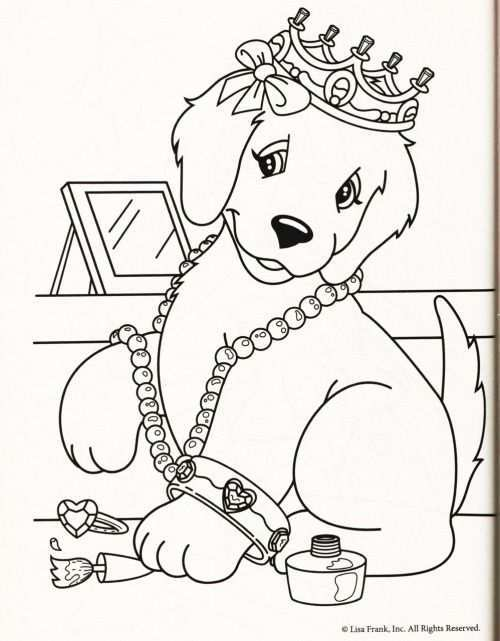 Kleurplaat Hond Kroon Kleurplaten Kleurplaten Voor Kinderen Honden