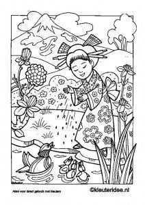Kleurplaat Japan Kleuteridee Nl Japan Coloring Free Printable Colouring Pages Printab