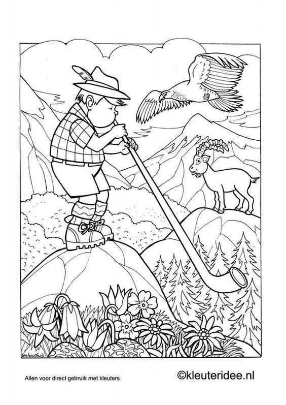 Gratis Kleurplaat Oostenrijk Coloring Pages Coloring Books School Coloring Pages