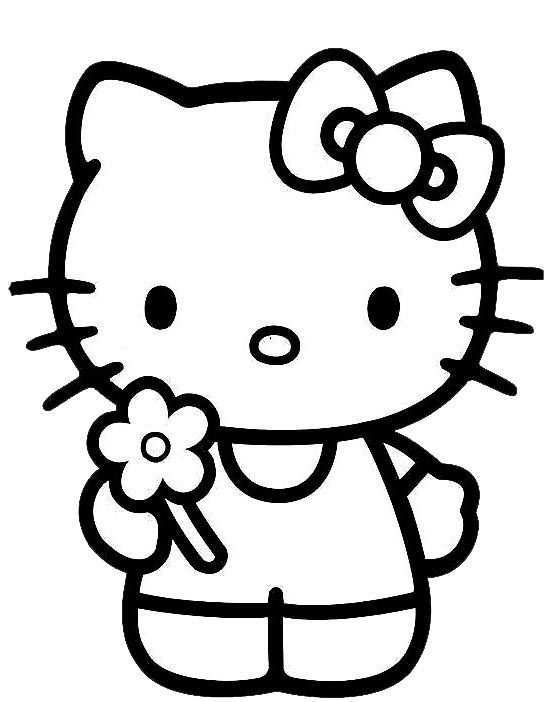 Klik Hier Om De Hello Kitty Kleurplaat Te Downloaden Hello Kitty Verjaardag Hello Kitty Kleurplaten