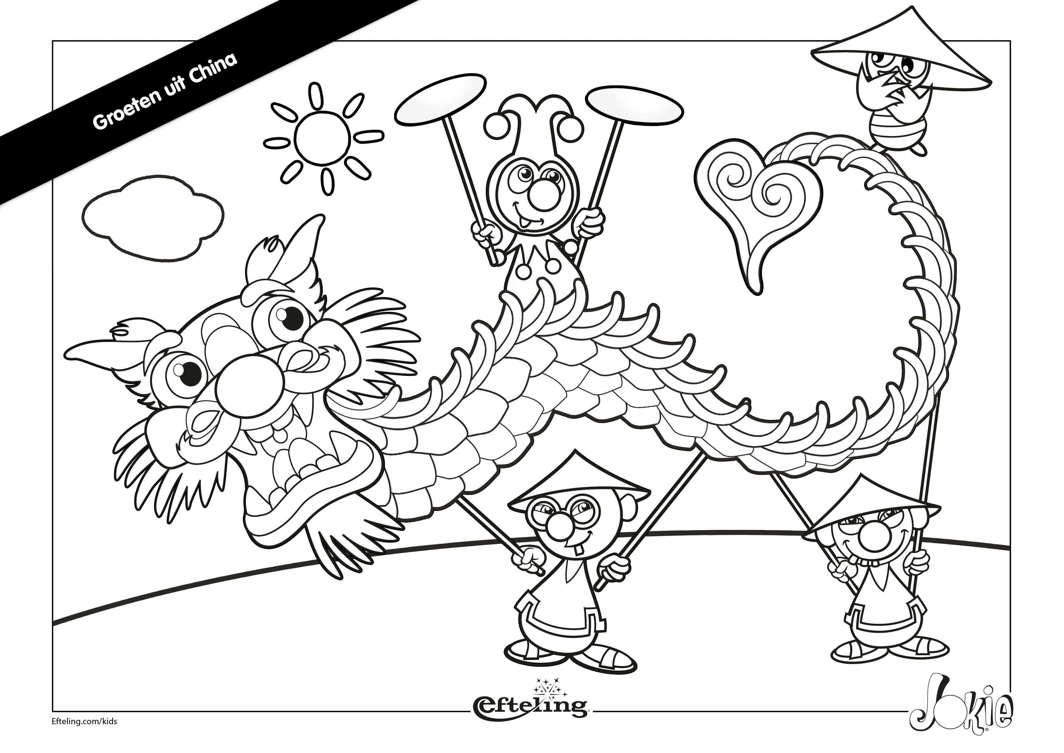 Efteling Kleurplaat Jokie In China Kleurplaten Sprookjesboom Thema