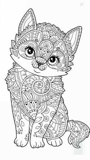 Pin By Lynn Peeters On Zapisane Przeze Mnie Dog Coloring Page Cat Coloring Page Mandala Coloring Pages