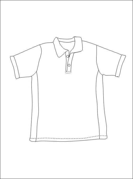 T Shirt Om In Te Kleuren Kleding Gratis Kleurplaten Kleuren