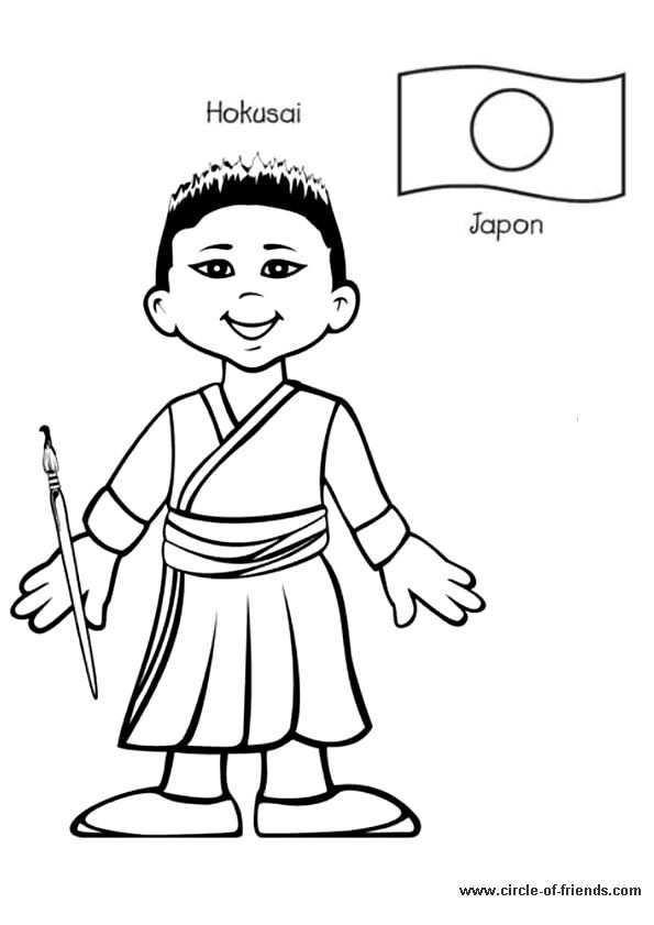 Afbeeldingsresultaat Voor Kleding In Verschillende Landen Japan Kleurplaten Rond De Wereld