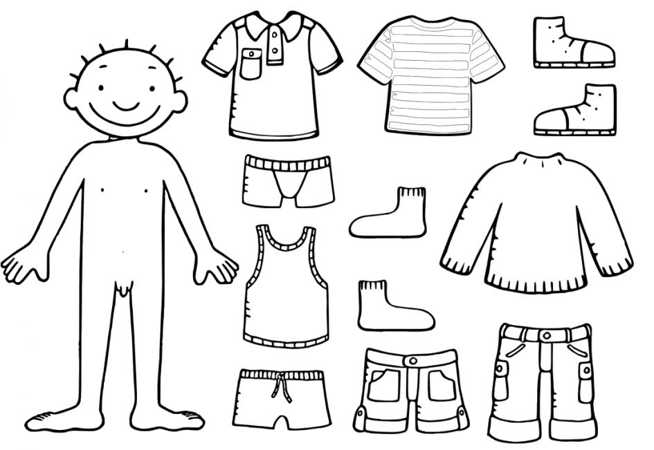 Kinderen Jules Met Kleren Zijn Van Hem Bezittelijke Voornaamwoorden Zintuigen Kleurplaat 5 5 Z Attivita Del Corpo Umano Educazione Speciale Bambini Difficili
