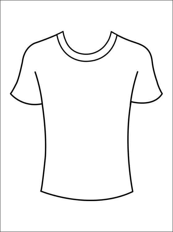 Kleurplaat T Shirts Gratis Kleurplaten Knutselen Thema Kleding Kleding Knutselen T Shirt Knutselen