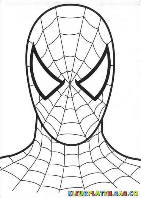 Spider Man Mask Kleurplaten Kleurplaten Voor Kids Tekening Van Het Schminken En Kleuren Spiderman Kleurplaten 8a Spiderman Gratis Kleurplaten Kleurplaten