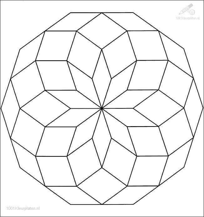 Fantasie Mandala Kleurplaat Picture Mandala Kleurplaten Abstracte Kleurplaten Mandala