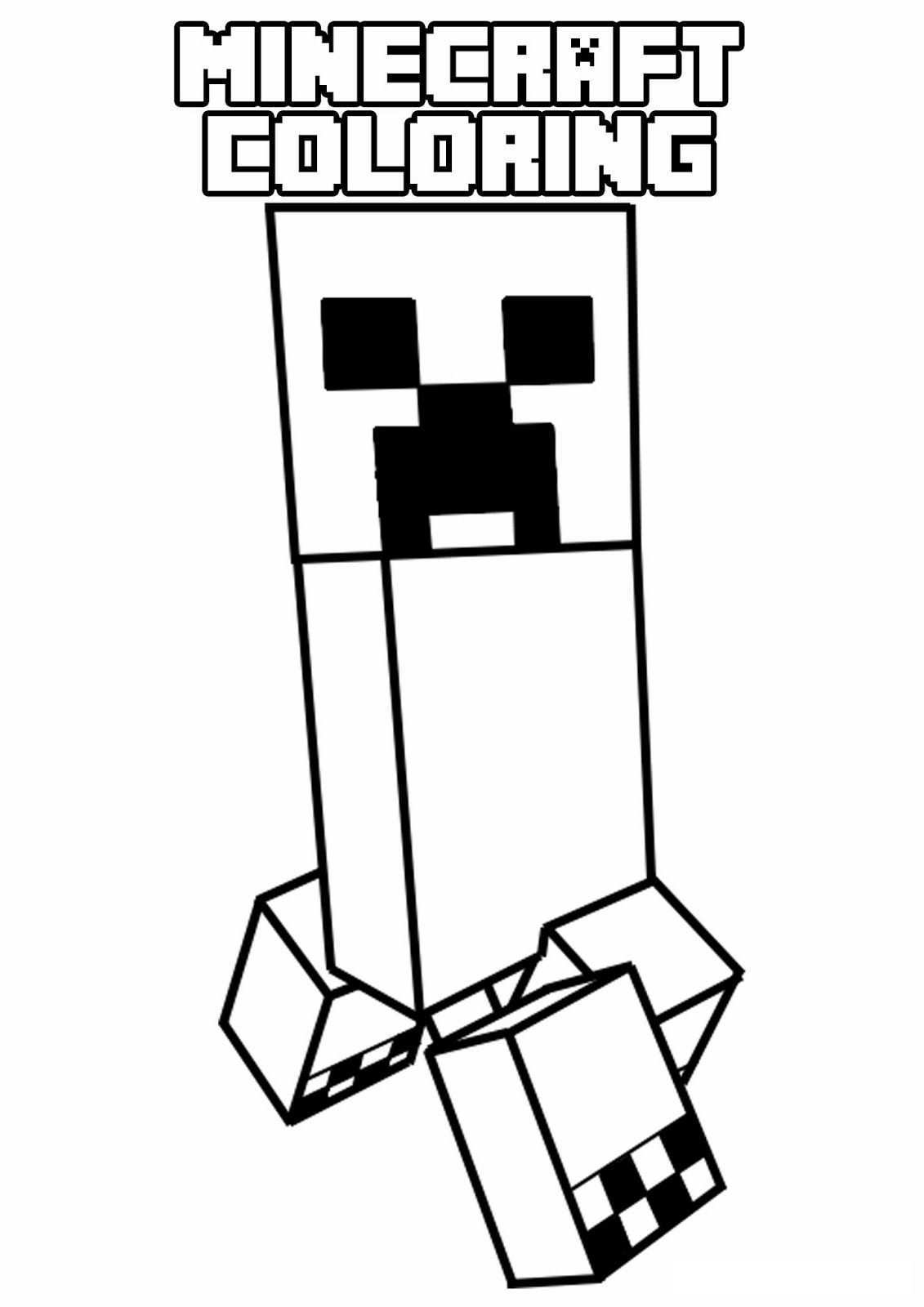 Minecraft Coloring Pages For Kids 4 Coloring Pages For Kids Kleurplaten Minecraft Afbeeldingen