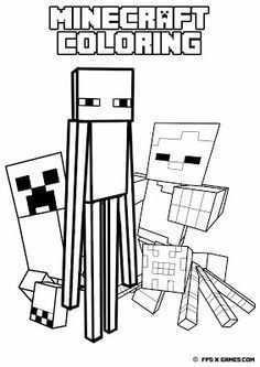 25 Gratis Te Printen Minecraft Kleurplaten Topkleurplaatnl Minecraft Kleurplaten Minecraft Ideeen